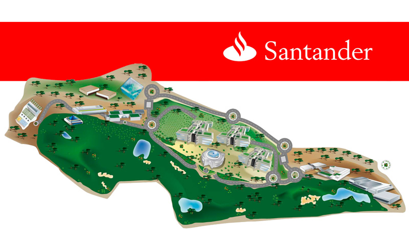 Infografía para instalaciones centrales y de ocio de las que dispone la entidad (Madrid)