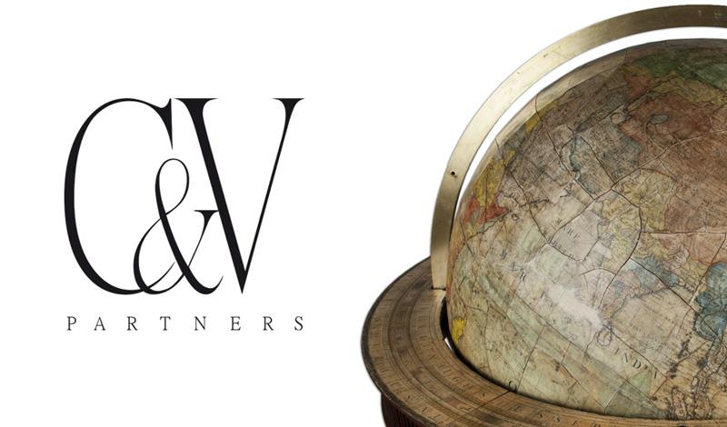 C&V Partners Naming e imagen corporativa; compañía para consejos y conocimientos de los bienes comerciales y residenciales (Suiza)