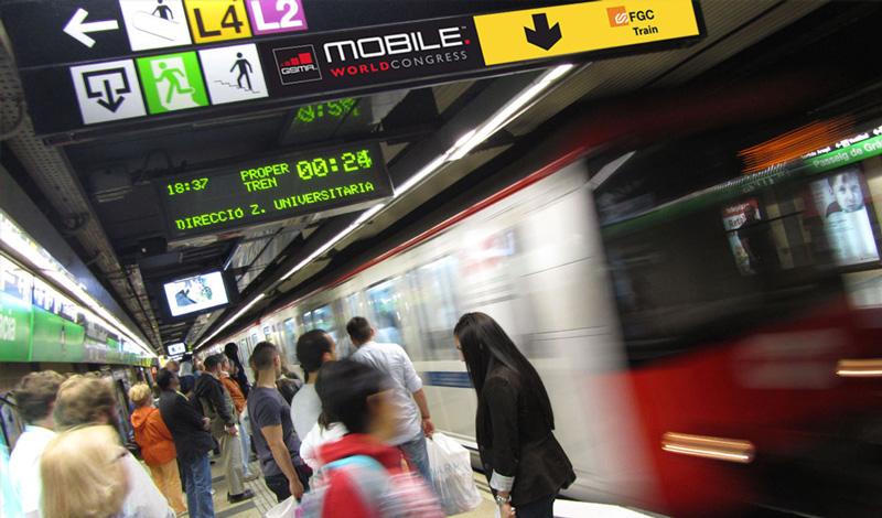 Señalética area metropolitana para Mobile World Congress (Barcelona)