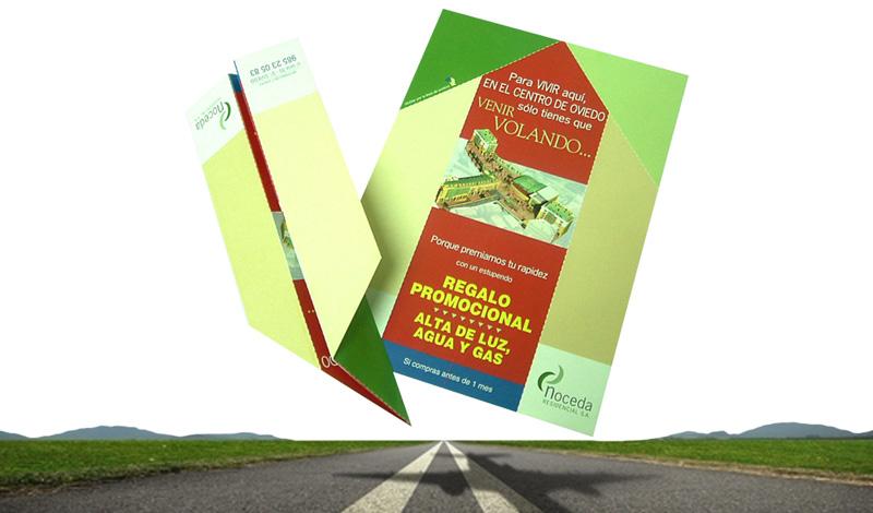 Flyer para promoción de una urbanización residencial (Asturias)