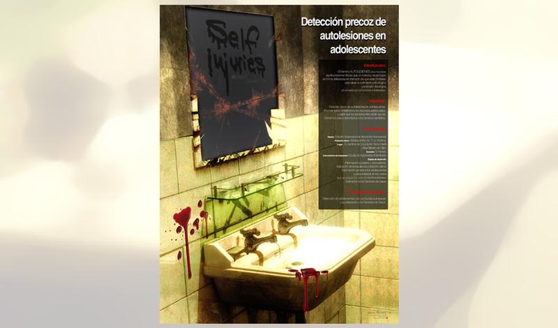 Cartel finalista a nivel nacional, representante de Asturias en las jornadas de autolesiones adolescentes (Asturias)