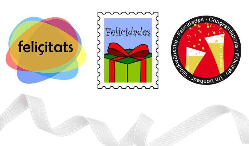 Variedad de stickers para la empresa Suissimport (Suiza)